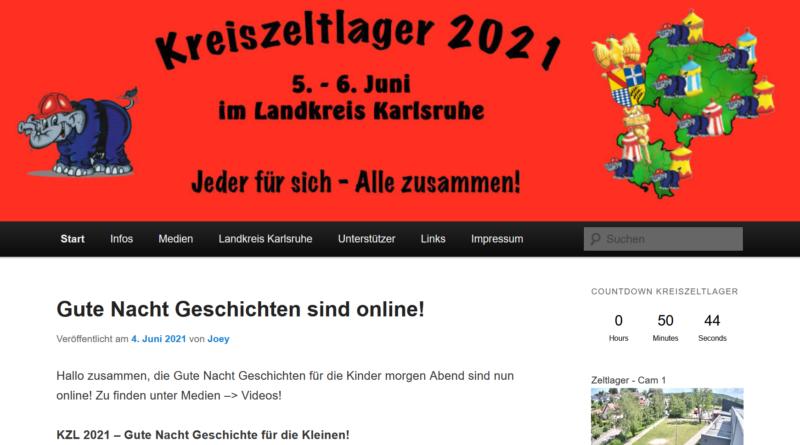 Alle Infos zum Kreiszeltlager auf jugendfeuerwehrlager.de